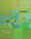 Statistics for the Behavioral Sciences Book