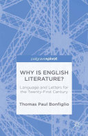 Pdf Why is English Literature? Telecharger