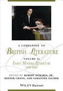 A Companion to British Literature, Volume 2