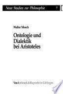 Ontologie und Dialektik bei Aristoteles