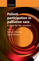 Patient Participation in Palliative Care