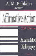 Affirmative Action: An Annotated Bibliography - Seite xvii