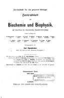 Zentralblatt F  r Biochemie und Biophysik