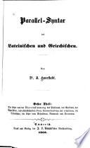 Parallel-syntax des lateinischen und griechischen
