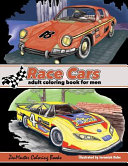 Race Cars Adult Coloring Book for Men