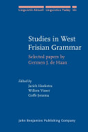 Studies in West Frisian Grammar
