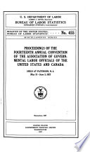 Proceedings Of The Annual Convention Of The Association Of Governmental Labor Officials Of United States And Canada