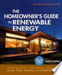 The Homeowner S Guide To Renewable Energy Book PDF