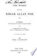 The Works Of The Late Edgar Allan Poe The Literati