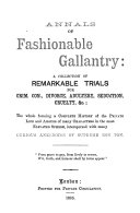 Annals of Fashionable Gallantry