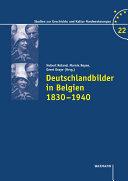 Deutschlandbilder in Belgien 1830–1940
