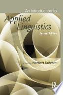 """""""An Introduction to Applied Linguistics"""" by Norbert Schmitt"""
