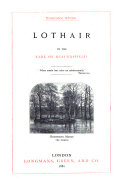 Novels and Tales by the Earl of Beaconsfield  Lothair
