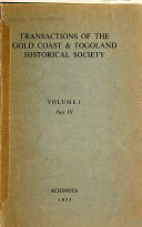 Transactions of the Gold Coast & Togoland Historical Society