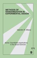 Methods of Randomization in Experimental Design
