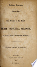 Christian Soberness  Conversion  and the Witness of the Spirit