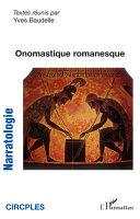 Pdf Onomastique romanesque Telecharger