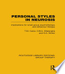Personal Styles In Neurosis Rle Group Therapy