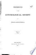 Proceedings of the Entomological Society of Philadelphia