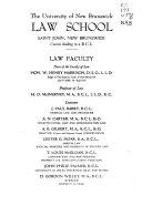 University Of New Brunswick Law School Journal