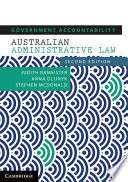 Cover of Government Accountability – Australian Administrative Law