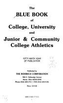 The Blue Book of College  University and Junior   Community College Athletics