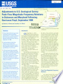 Adjustments To U S Geological Survey Peak Flow Magnitude Frequency Relations In Delaware And Maryland Following Hurricane Floyd September 1999 PDF