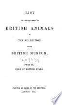 List Of The Specimens Of British Animals