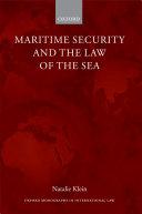 Maritime Security and the Law of the Sea Pdf/ePub eBook