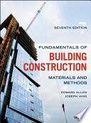 Fundamentals of Building Construction Book