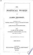 The Poetical Works of James Thomson Book