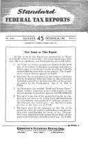 Standard Federal Tax Reporter Book PDF