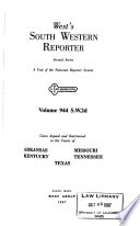 South Western Reporter. Second Series