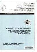 Interpretation procedures for federal information processing standards for software