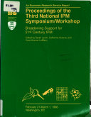 Proceedings of the Third National IPM Symposium Workshop
