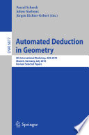 Automated Deduction in Geometry Book
