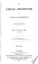 The Legal Observer Or Journal Of Jurisprudence