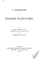 A Dictionary of English Plant names