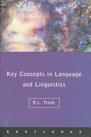 Language and Linguistics  The Key Concepts