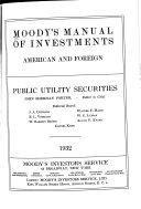 Moody s Public Utility Manual
