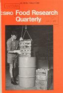 CSIRO Food Research Quarterly