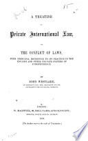 A Treatise On Private International Law