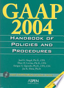 Gaap 2004 Handbook of Policies and Procedures