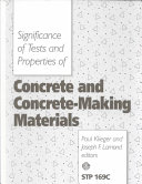 Significance of Tests and Properties of Concrete and Concrete-making Materials