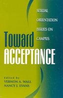 Toward Acceptance