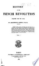 History of the French Revolution from 1789 to 1796