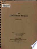 The Teton Basin Project Book PDF