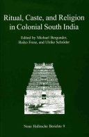 Ritual  Caste  and Religion in Colonial South India