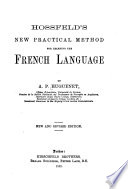 Hossfeld's new practical method for learning the French language