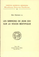 Pdf Les sermons de Jean XXII sur la vision béatifique Telecharger